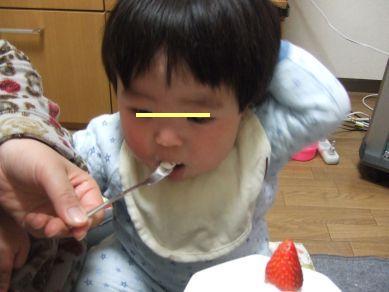 ケーキを食すチビ助