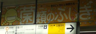 上野駅、かもされる